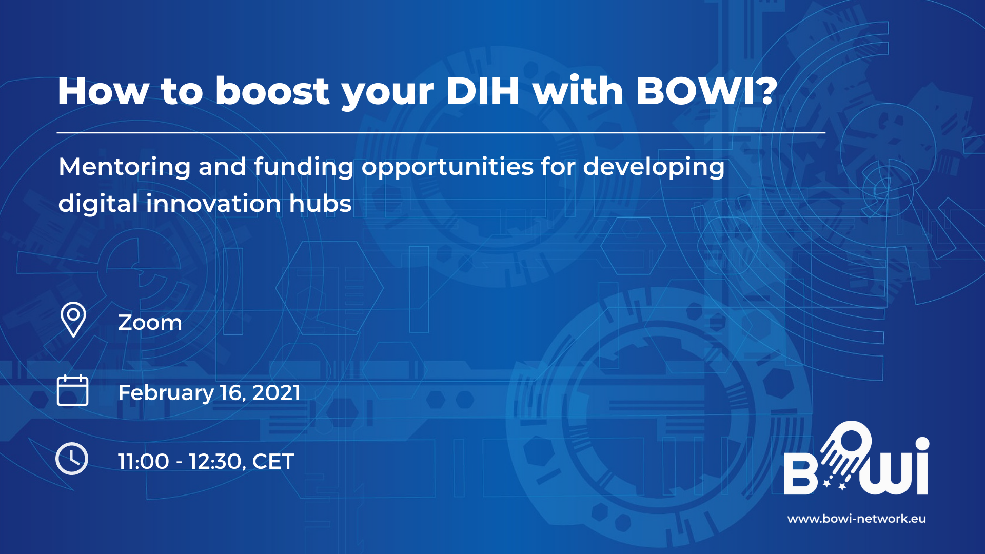 Bowi webinar date and time